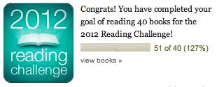 Goodreads Challenge 2012