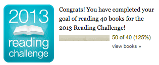 Goodreads Challenge 2013