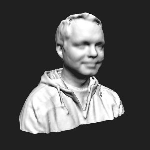 screen cap of Chad's 3d scanned head