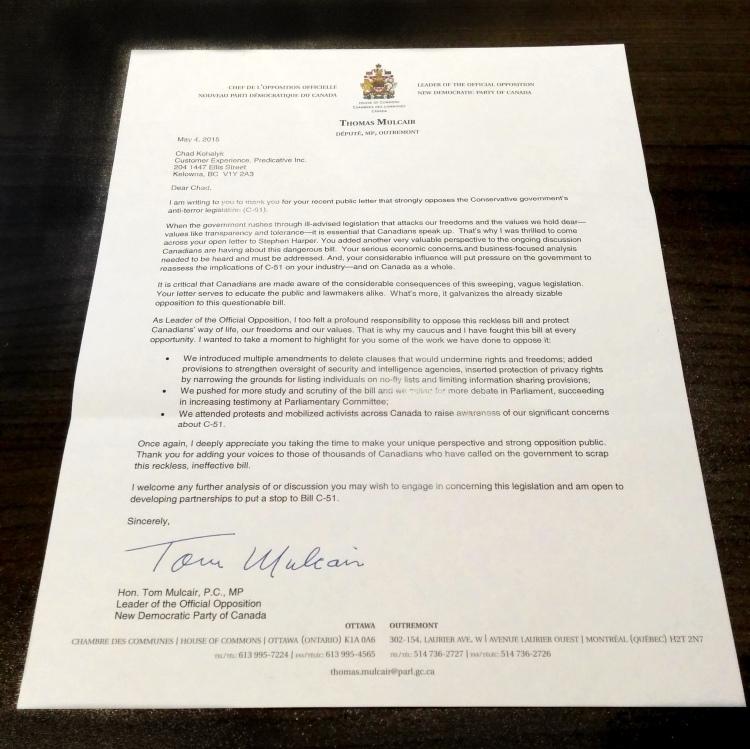letter from tom mulcair