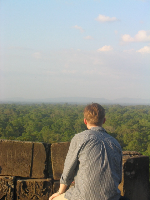 Me in 2003, deep in thought watching the Cambodia jungle.