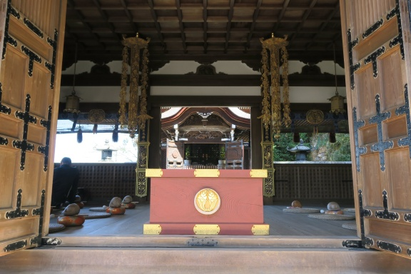 Mediation area at the top of the temple complex
