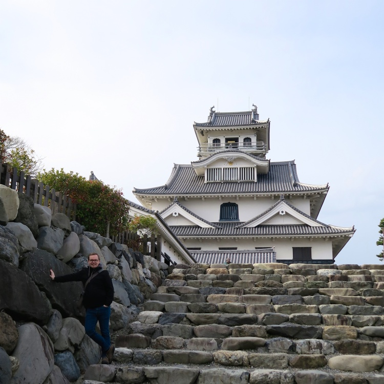 Nagahama Castle (with me for scale).jpg