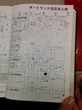 Map of historical Japantown in Portland