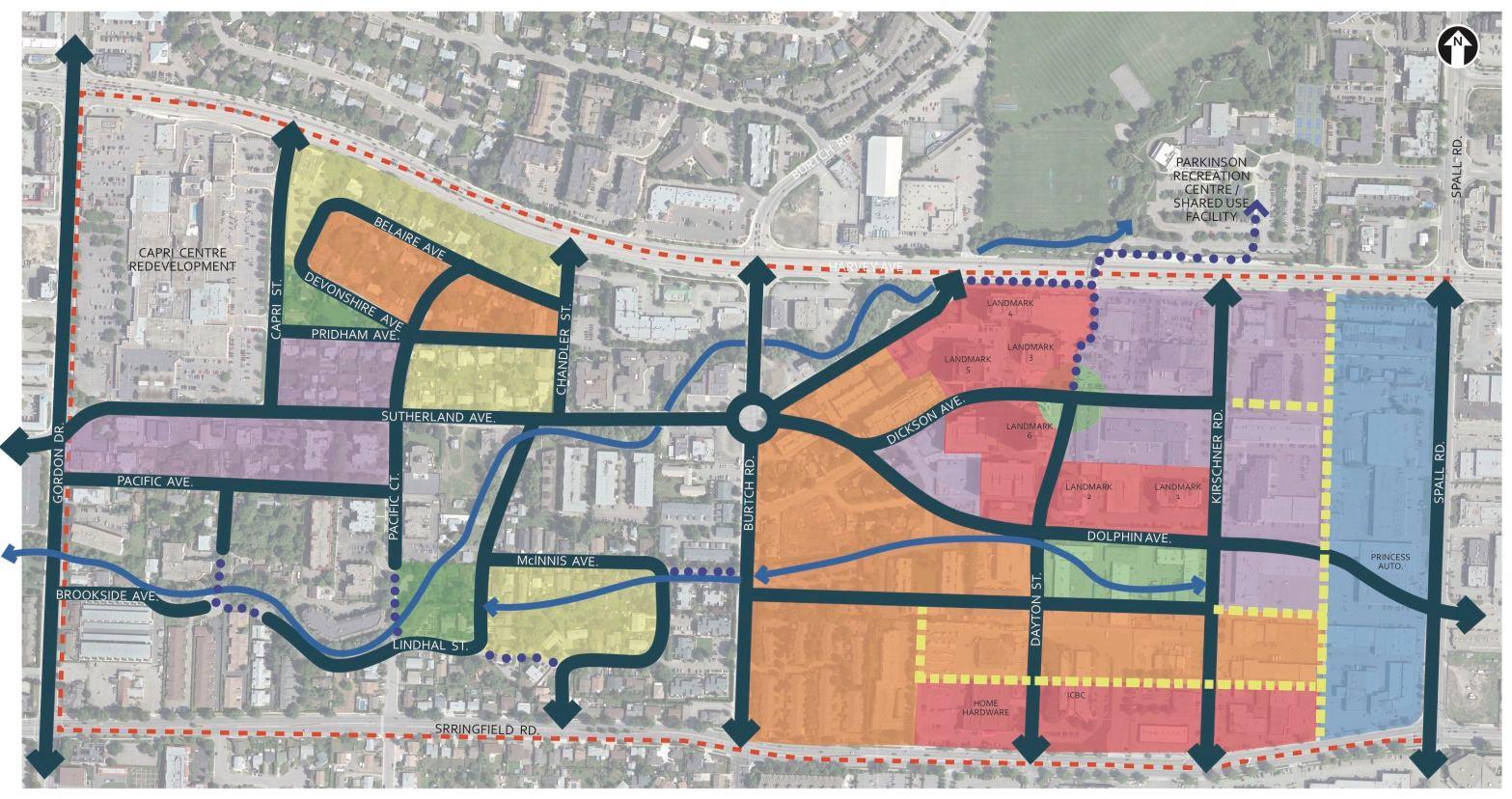 land use map concept for Capri-Landmark area