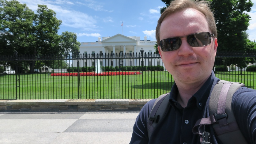 As close as they'll let me to the White House