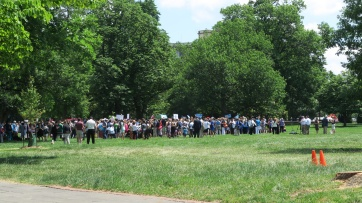 Protests on the lawn