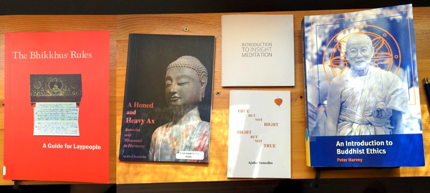 4 books and pamphlets about Buddhism