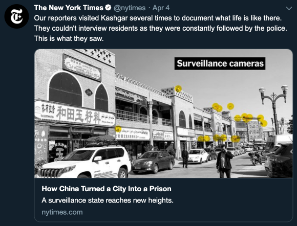 screencap of the linked tweet from the NY Times