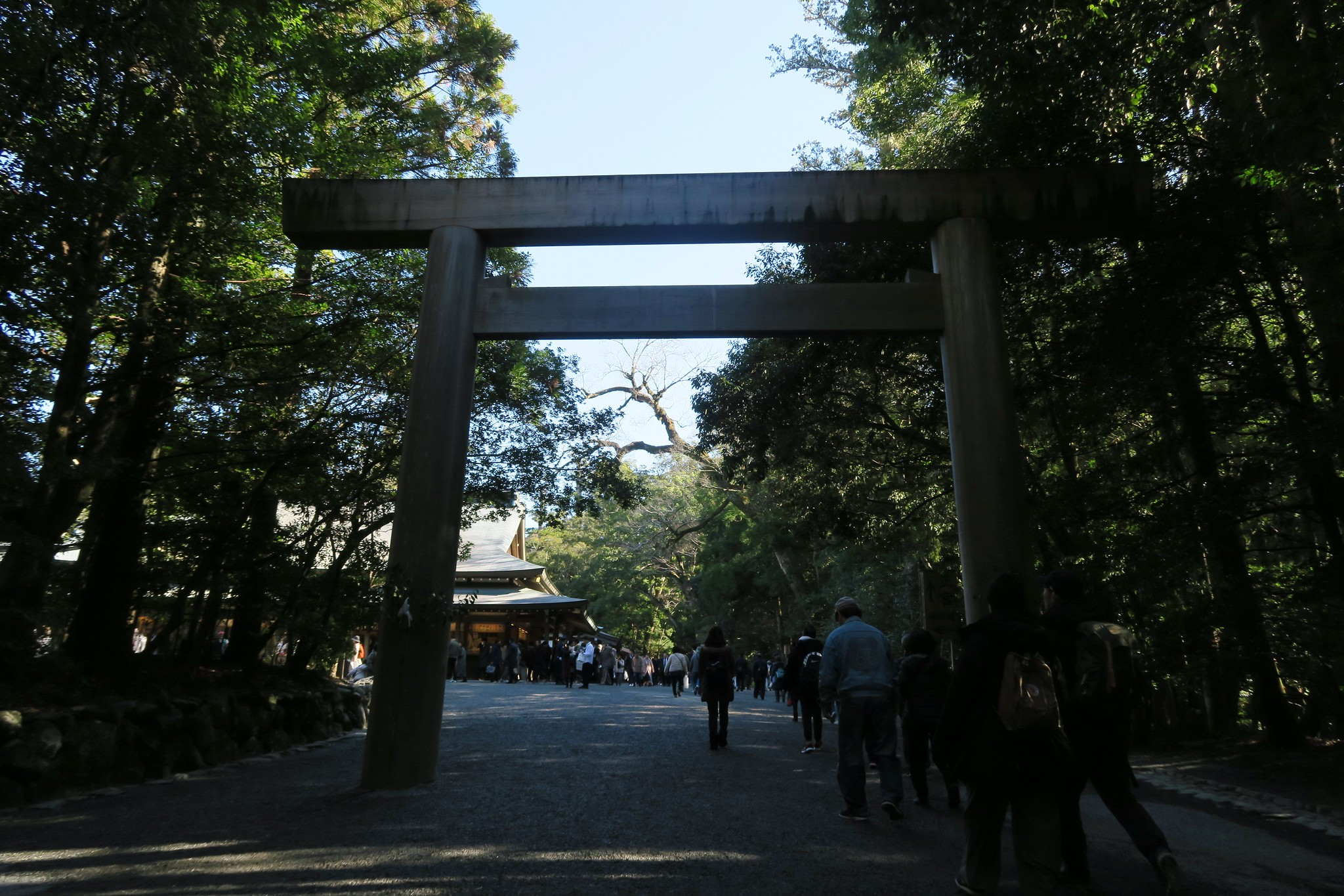 Entering the shrine area