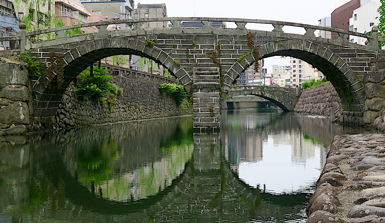 Bridge and reflection in river