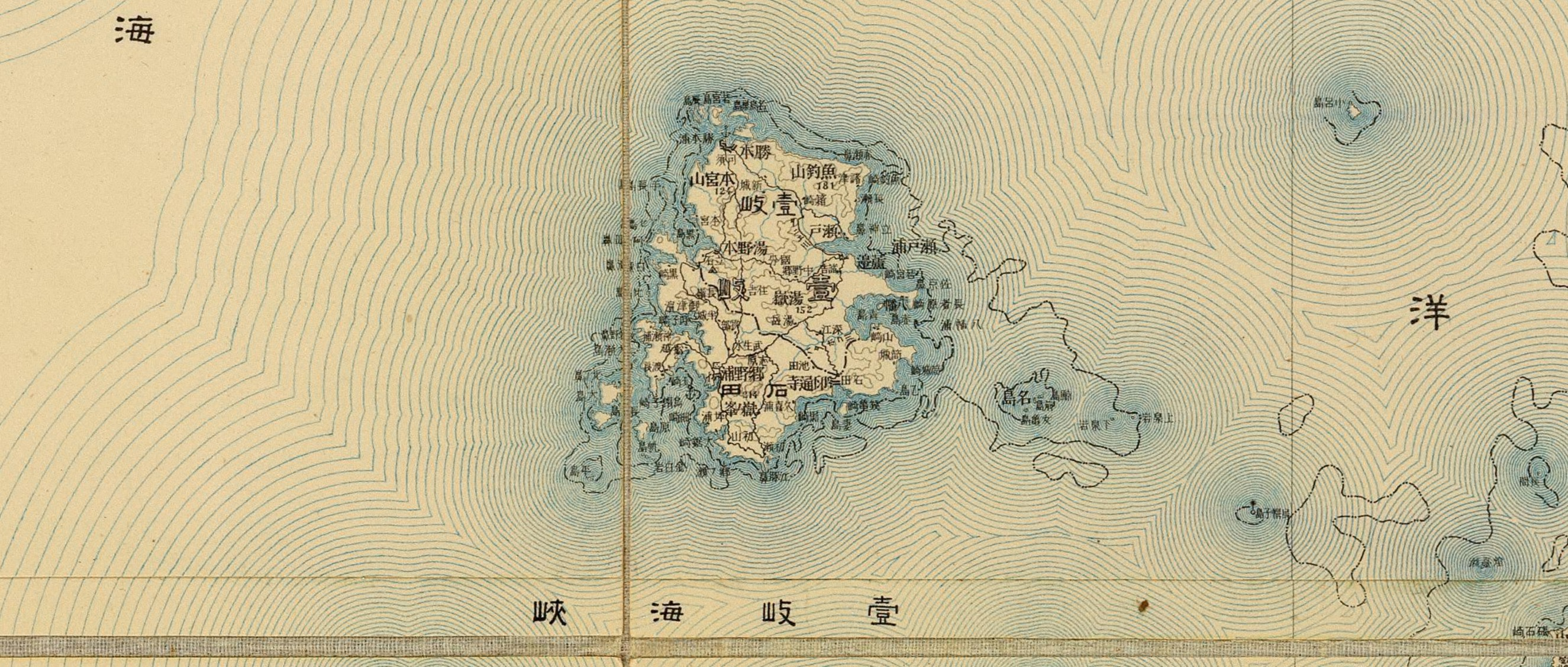 old map of Iki island